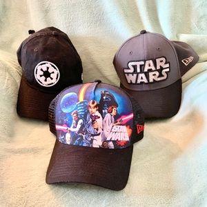 SET of 3 STAR WARS 🧢 HATS